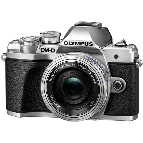 Olympus OM-D E-M10 Mark III Mirrorless Micro Four Thirds Digital Camera with 14-42mm EZ Lens (Silver) by Olympus at B&C Camera