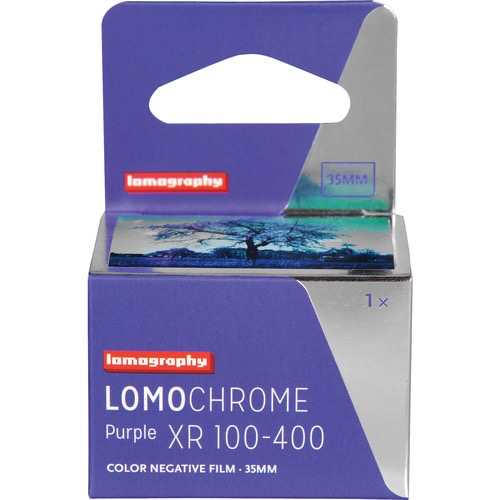 Lomography LomoChrome Purple XR 100-400 Color Negative Film (35mm Roll, 36 Exposures) - B&C Camera
