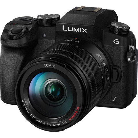 Panasonic Lumix DMC-G7 Mirrorless Micro Four Thirds Digital Camera with 14-140mm Lens (Black) by Panasonic at B&C Camera