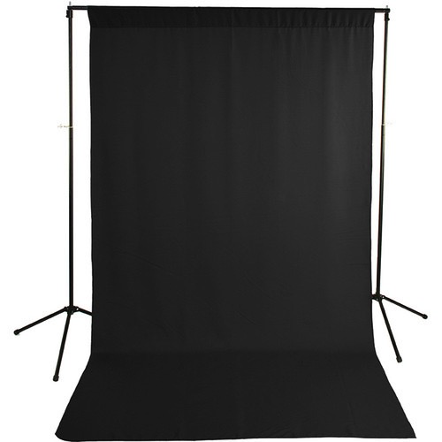 Savage Economy Background Kit 5x9' (Black Backdrop) by Savage at B&C Camera