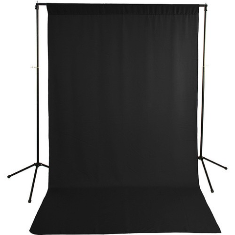 Savage Economy Background Kit 5x9' (Black Backdrop) by Savage at bandccamera