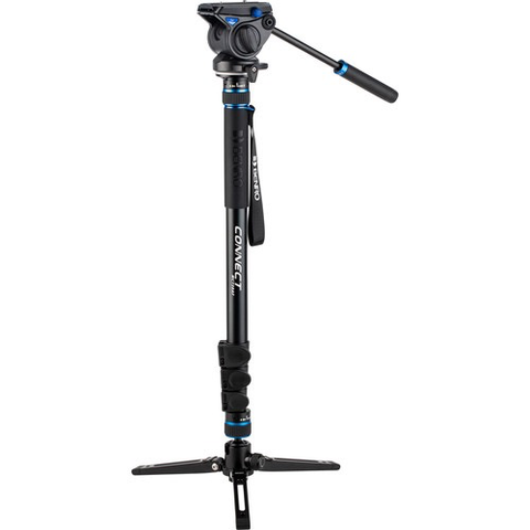 Benro #3 MCT38AF Monopod with Flip Locks, 3-Leg Base, and S4 Video Head by Benro at B&C Camera