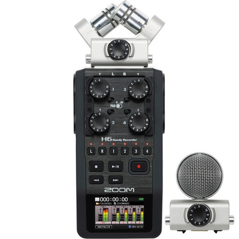 Zoom H6 Handy Recorder with Interchangeable Microphone System - B&C Camera - 1