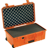 Pelican 1535 Air  2017 Wheeled Carry-On Case with Pick-N-Pluck Foam (Orange)