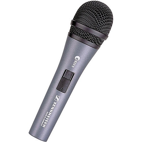 Sennheiser e825S Handheld Cardioid Dynamic Microphone with On/Off Switch by Sennheiser at bandccamera