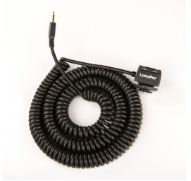 LumoPro 30' Hot Shoe to Mini Coiled Cord