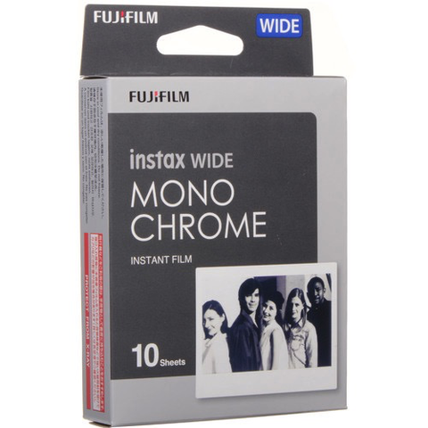 FUJI INSTAX WIDE MONOCHRME 10PK by Fujifilm at B&C Camera