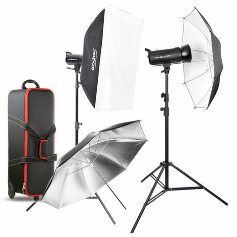 Godox SK400II 2-Light Studio Flash Kit by Godox at B&C Camera
