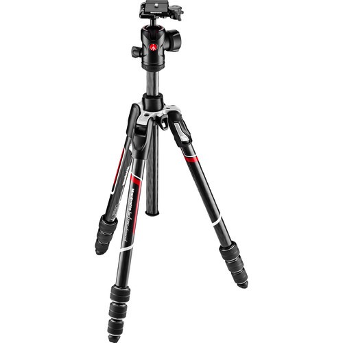 Manfrotto Befree Advanced Carbon Fiber Travel Tripod with 494 Ball Head (Twist Locks, Black)