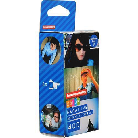 Lomography 400 Color Negative Film (35mm Roll, 36 Exposures, 3 Pack) by lomography at bandccamera