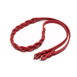 One-Piece Leather Strap Red