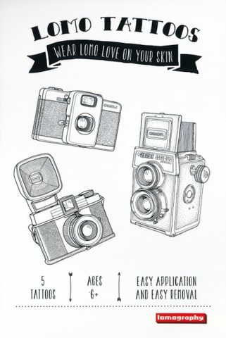 Lomography Temporary Tattoos (5 Pack, Various Designs) by lomography at bandccamera
