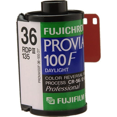Fujifilm Fujichrome Provia 100F Professional RDP-III Color Transparency Film (35mm Roll, 36 Exposures) - B&C Camera