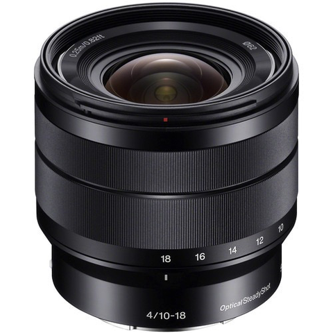 Sony 10-18mm f/4 OSS Alpha E-mount Wide-Angle Zoom Lens by Sony at B&C Camera