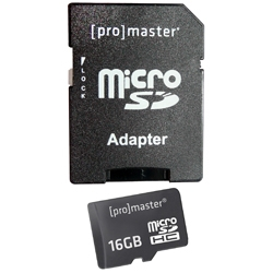 Promaster 16GB Performance Micro SD Memory Card by Promaster at B&C Camera