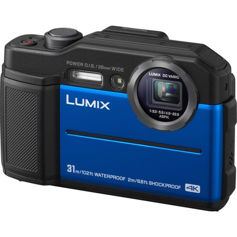 Panasonic Lumix DC-TS7 Digital Camera (Blue) by Panasonic at bandccamera