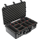Pelican 1555Air Carry-On Case with TrekPak Dividers (Black)