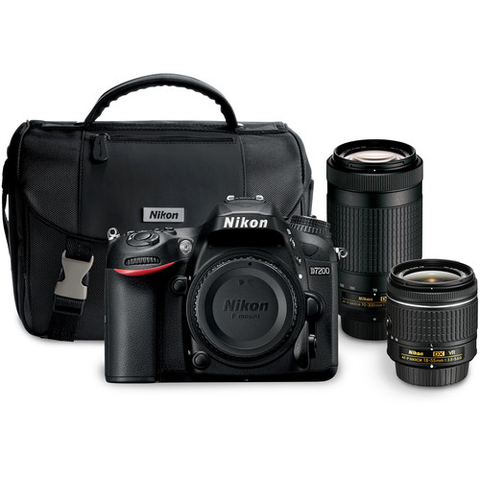 Nikon D7200 DSLR Camera with 18-55mm and 70-300mm Lenses Kit by Nikon at B&C Camera