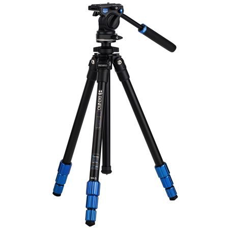 Benro 4-Section Aluminum Slim Video Tripod Kit by Benro at B&C Camera