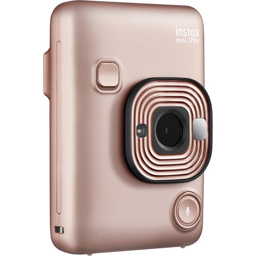 FUJIFILM INSTAX Mini LiPlay Hybrid Instant Camera (Blush Gold) by Fujifilm at B&C Camera