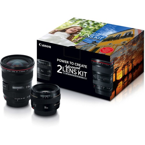Canon Advanced Two Lens Kit with 50mm f/1.4 and 17-40mm f/4L Lenses by Canon at B&C Camera