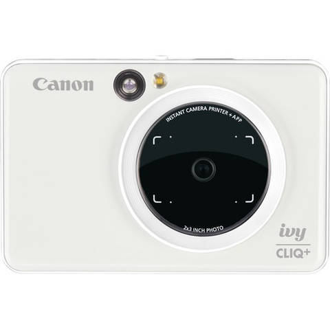 Canon IVY CLIQ+ Instant Camera Printer (Pearl White) by Canon at B&C Camera