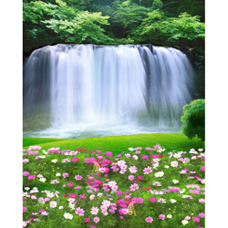 Promaster Scenic Backdrop 8' x 10' - Waterfall - B&C Camera