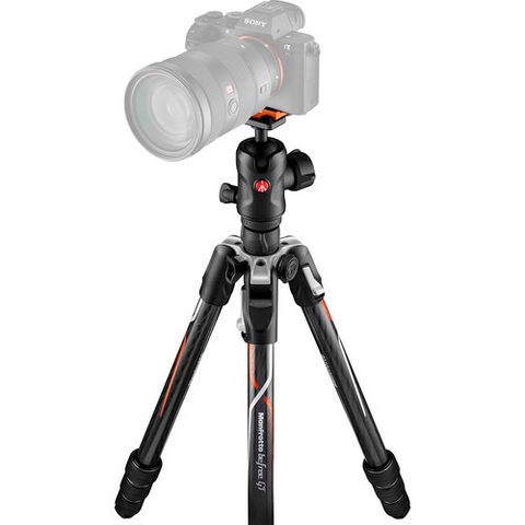 Manfrotto Befree GT Travel Carbon Fiber Tripod with 496 Ball Head for Sony a Series Cameras (Black) by Manfrotto at B&C Camera