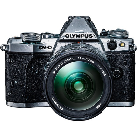 Olympus OM-D E-M5 Mark II Mirrorless Micro Four Thirds Digital Camera with 14-150mm f/4-5.6 Lens Kit (Silver) by Olympus at bandccamera