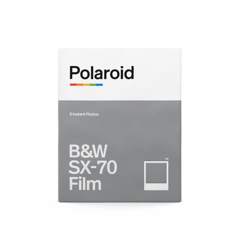 Polaroid Originals Black and White Film for SX-70 - 8 Exp. - White Frame