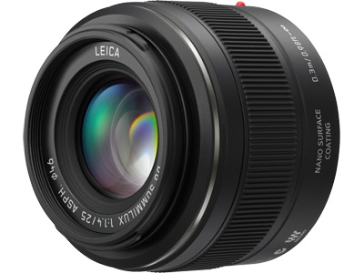 Panasonic Leica DG Summilux 25mm f/1.4 ASPH Lens by Panasonic at bandccamera