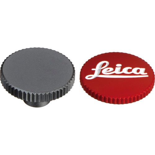 "Leica Soft Release Button for M-System Cameras - 8mm, Red ""Leica"" - B&C Camera"