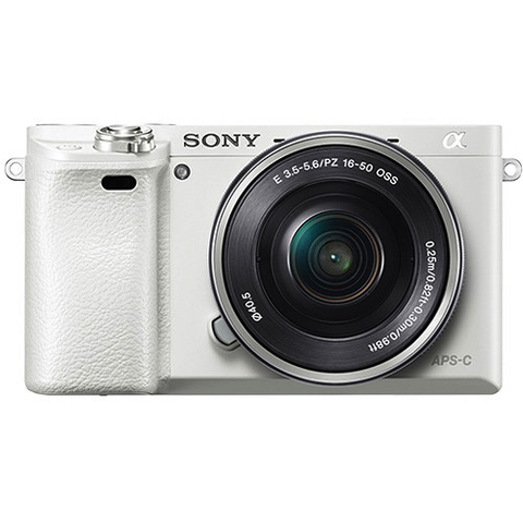 Sony Alpha a6000 Mirrorless Digital Camera with 16-50mm Lens (White) by Sony at bandccamera