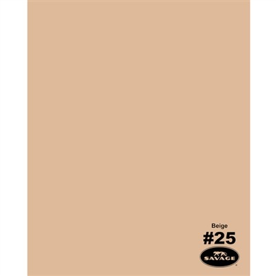"Savage Widetone Seamless Background Paper (Beige 86""X12yds) by Savage at B&C Camera"