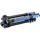 Manfrotto BeFree Compact Travel Aluminum Alloy Tripod (Blue) - B&C Camera - 3