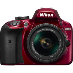 Nikon D3400 W/AF-P DX 18-55 VR (RED) Nikon D3400 W/AF-P DX 18-55 VR (RED) by Nikon at B&C Camera
