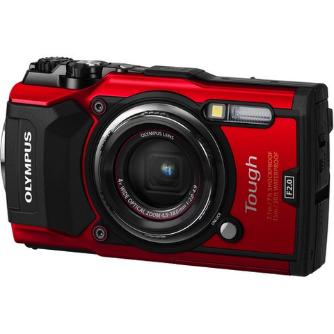 Olympus Tough TG-5 Digital Camera (Red) by Olympus at B&C Camera