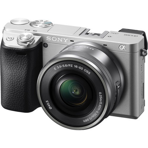 Sony Alpha a6300 Mirrorless Digital Camera with 16-50mm Lens (Silver)