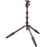3 Legged Thing Eclipse Albert Carbon Fiber Travel Tripod with AirHed 360 Ball Head (Gunmetal Grey)