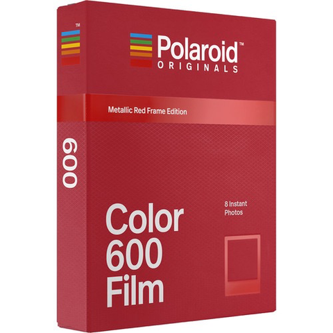Polaroid Originals Color Film for 600 - Metallic Red Frame Edition by Polaroid at bandccamera