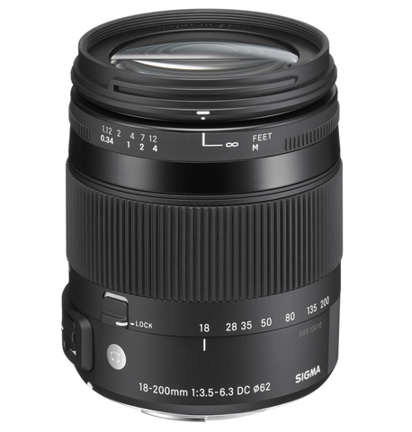 Sigma 18-200mm F3.5-6.3 DC Macro OS HSM Contemporary Lens for Canon - B&C Camera