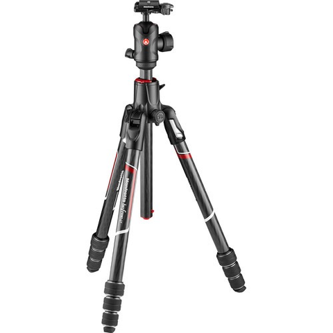 Manfrotto Befree GT XPRO Carbon Fiber Travel Tripod with 496 Center Ball Head by Manfrotto at B&C Camera