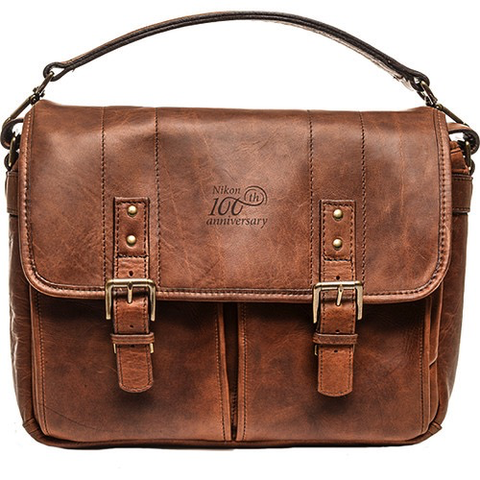 Nikon 100th Anniversary Premium Leather Bag (Antique Cognac) by Nikon at B&C Camera