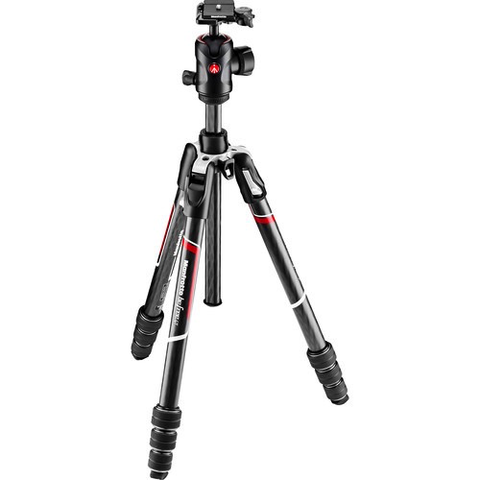 Manfrotto Befree GT Travel Carbon Fiber Tripod with 496 Ball Head (Black) by Manfrotto at B&C Camera