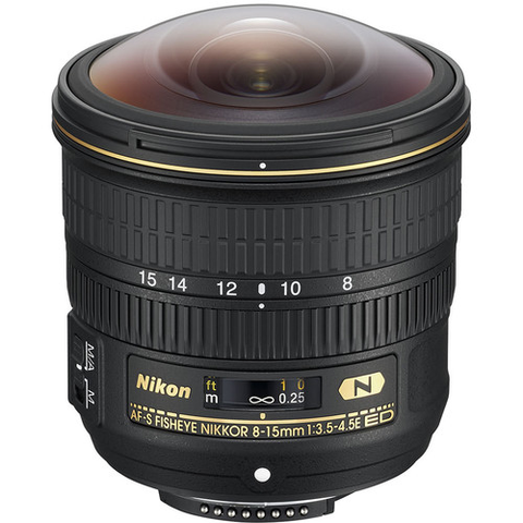 Nikon AF-S FISHEYE NIKKOR 8-15mm f/3.5-4.5E ED by Nikon at B&C Camera