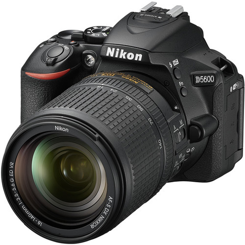 Nikon D5600 DX-format Digital SLR Body (Black) w/ AF-S DX NIKKOR 18-140mm f/3.5-5.6G ED VR Lens by Nikon at B&C Camera