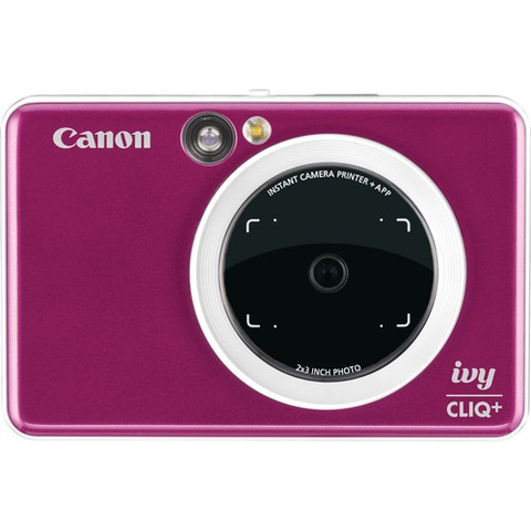 Canon IVY CLIQ+ Instant Camera Printer (Ruby Red) by Canon at bandccamera