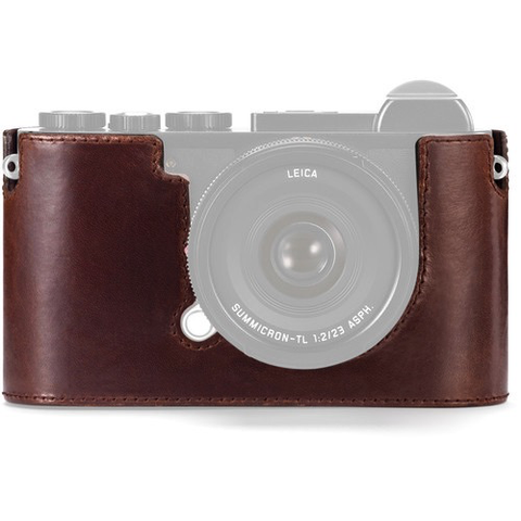 Leica Protector-CL Leather Case for Leica CL Mirrorless Digital Camera (Brown) by Leica at B&C Camera