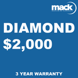MACK 3 Year Diamond Warranty - Under $2,000