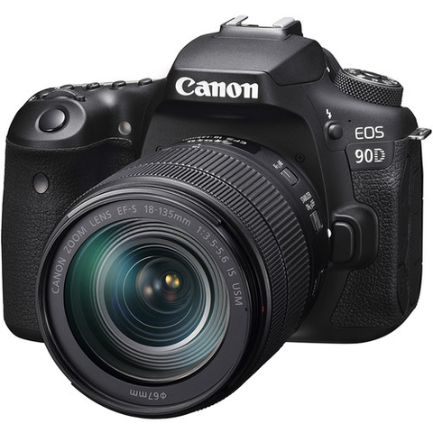 Canon EOS 90D DSLR Camera with 18-135mm Lens by Canon at B&C Camera